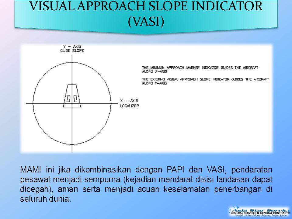 MAMI ini jika dikombinasikan dengan PAPI dan VASI, pendaratan pesawat menjadi sempurna (kejadian mendarat disisi landasan dapat dicegah), aman serta menjadi acuan keselamatan penerbangan di seluruh dunia.