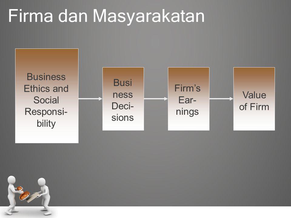 •Meningkatkan kepercayaan publik pada bisnis.