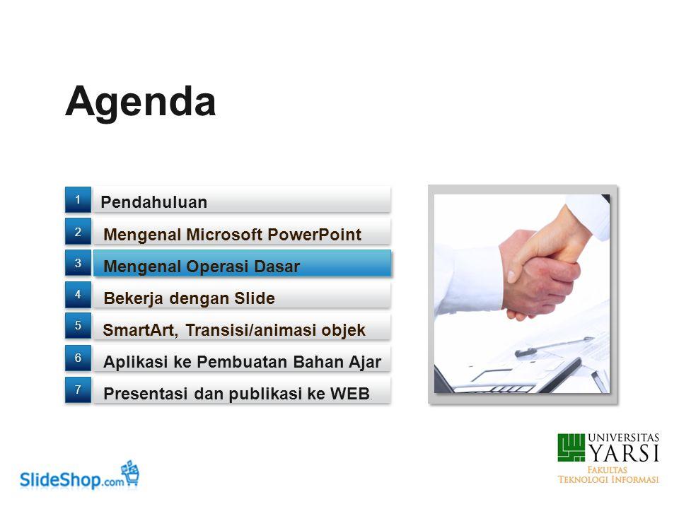 Agenda Pendahuluan Presentasi dan publikasi ke WEB.