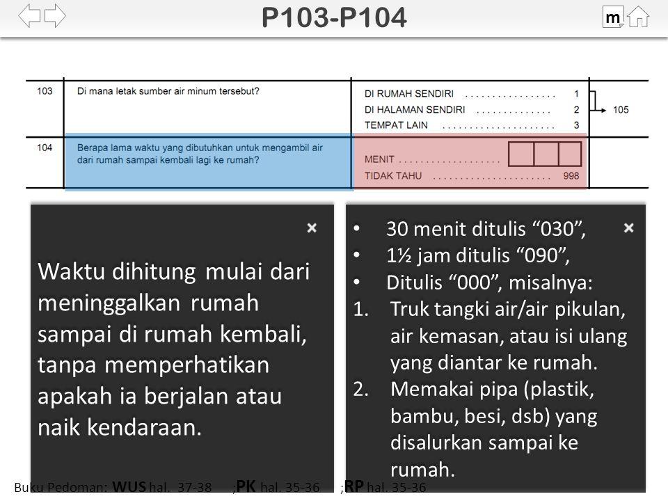 100% SDKI 2012 m Buku Pedoman: WUS hal. 43 ; PK hal. 41 ; RP hal. 41