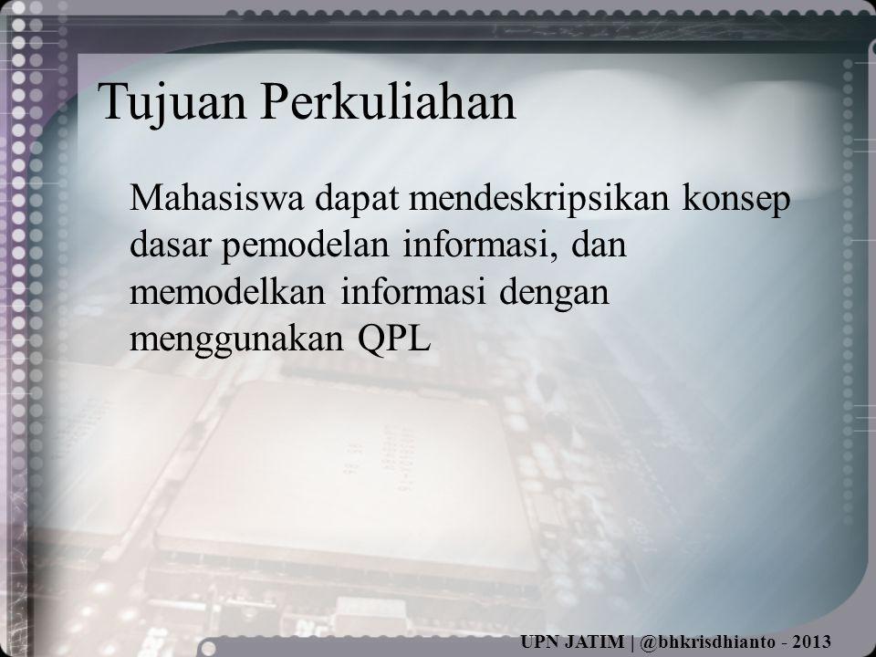 UPN JATIM | @bhkrisdhianto - 2013 Contoh Pemisahan (split)