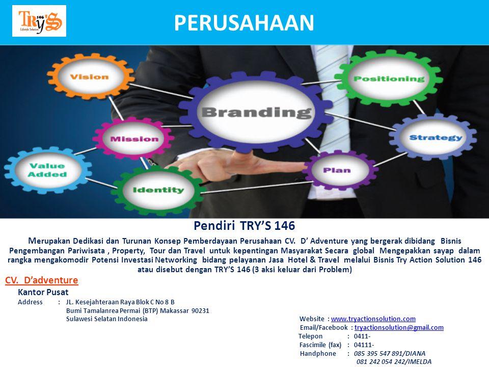 CV. D'adventure Kantor Pusat Address : JL. Kesejahteraan Raya Blok C No 8 B Bumi Tamalanrea Permai (BTP) Makassar 90231 Sulawesi Selatan Indonesia Web