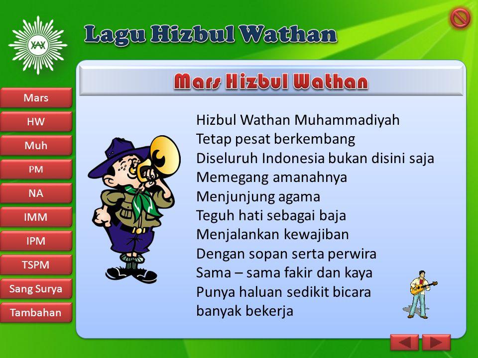 Hizbul Wathan Muhammadiyah Tetap pesat berkembang Diseluruh Indonesia bukan disini saja Memegang amanahnya Menjunjung agama Teguh hati sebagai baja Me