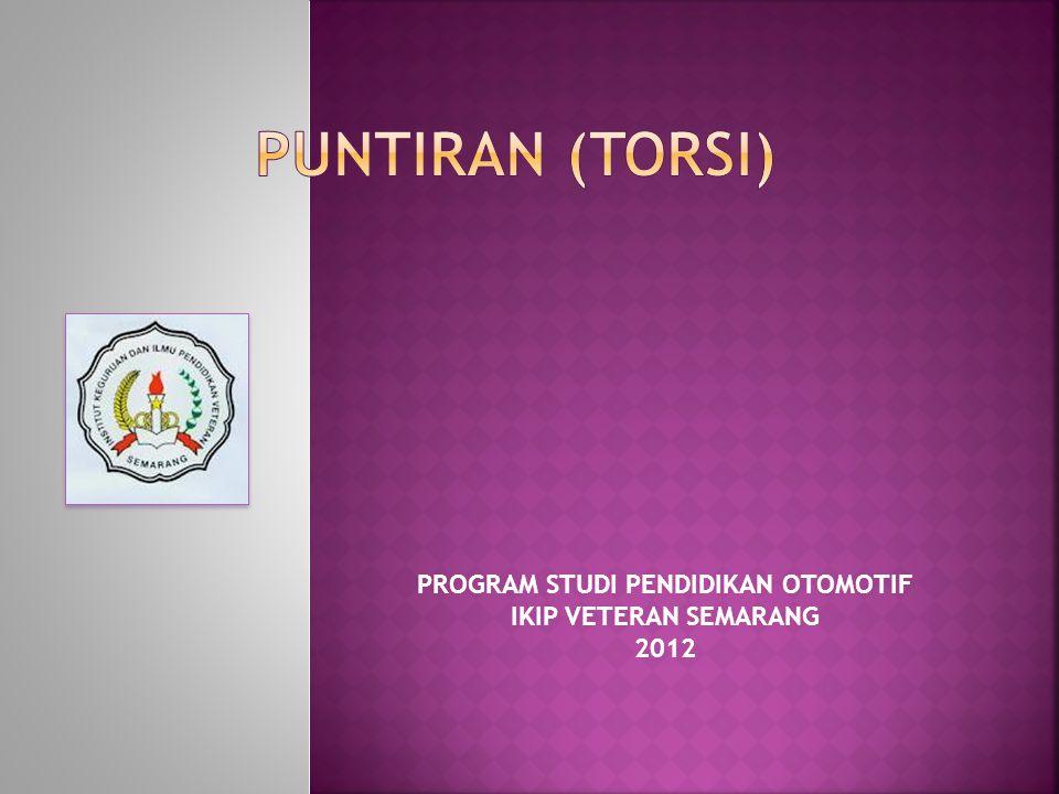 PROGRAM STUDI PENDIDIKAN OTOMOTIF IKIP VETERAN SEMARANG 2012