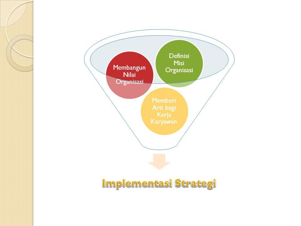 Memberi Arti bagi Kerja Karyawan Membangun Nilai Organisasi Definisi Misi Organisasi
