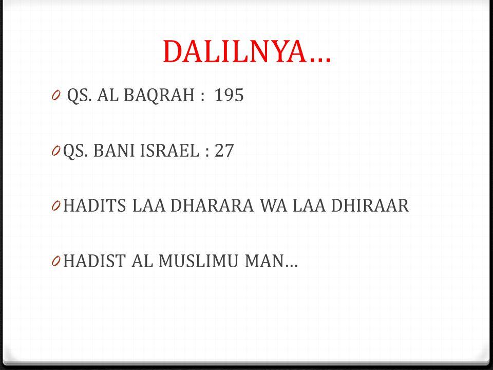 DALILNYA… 0 QS.AL BAQRAH : 195 0 QS.