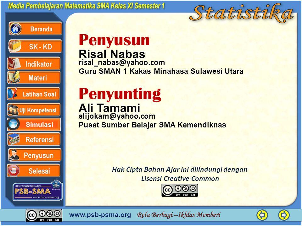 www.psb-psma.org Rela Berbagi –Ikhlas Memberi Simulasi Penyusun JALAN-JALAN Risal Nabas Guru SMAN 1 Kakas Minahasa Sulawesi Utara risal_nabas@yahoo.co