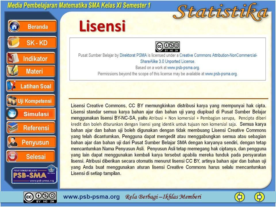www.psb-psma.org Rela Berbagi –Ikhlas Memberi SimulasiLisensi