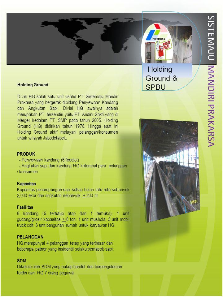 SISTEMAJU MANDIRI PRAKARSA Holding Ground Divisi HG salah satu unit usaha PT. Sistemaju Mandiri Prakarsa yang bergerak dibidang Penyewaan Kandang dan