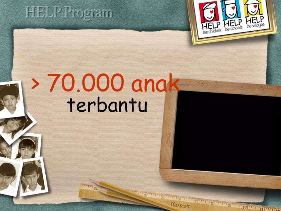 > 70.000 anak terbantu