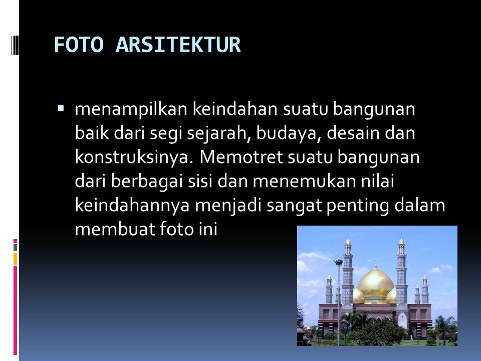 FOTO ARSITEKTUR  menampilkan keindahan suatu bangunan baik dari segi sejarah, budaya, desain dan konstruksinya.
