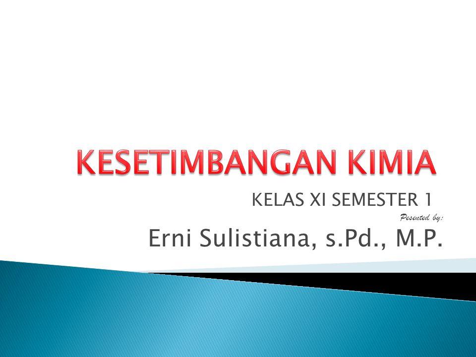 KELAS XI SEMESTER 1 Pesented by: Erni Sulistiana, s.Pd., M.P.