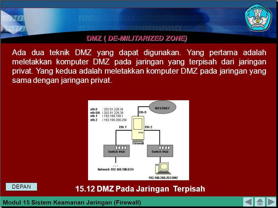 Perintah ini menyatakan bahwa setelah mengalami routing, paket yang akan dikirim melalui antarmuka eth0 yang berasal dari jaringan 192.168.100.0/24 ak