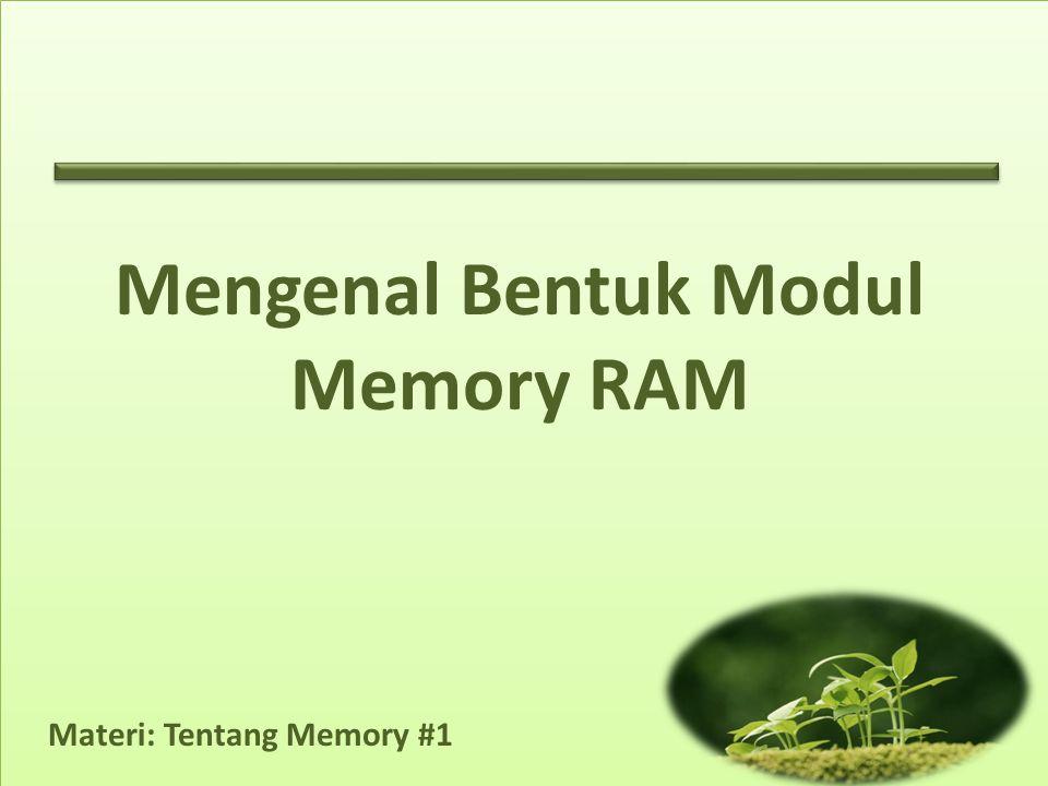 Materi: Tentang Memory #1 Mengenal Bentuk Modul Memory RAM
