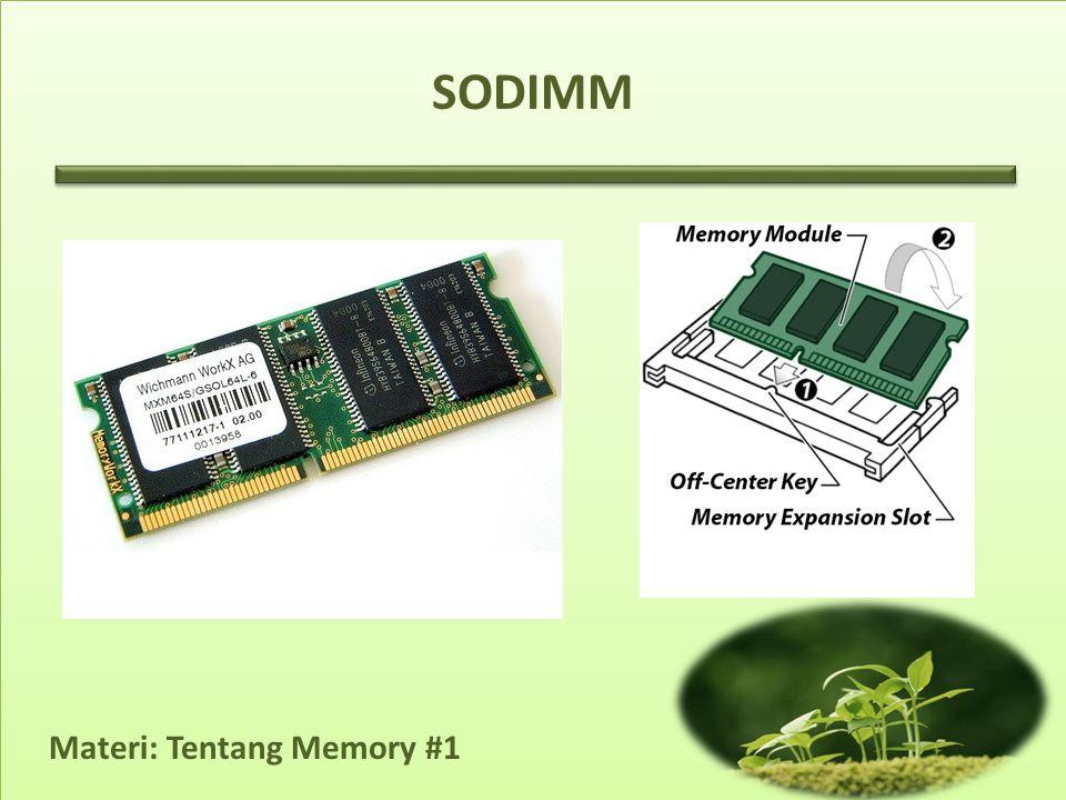 Materi: Tentang Memory #1 SODIMM
