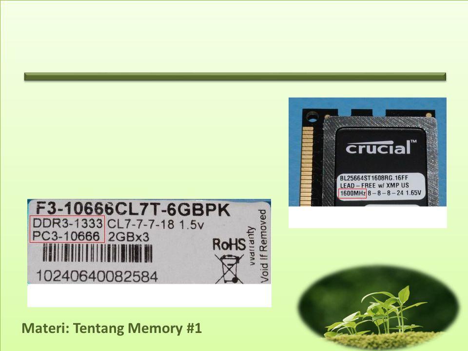 Materi: Tentang Memory #1