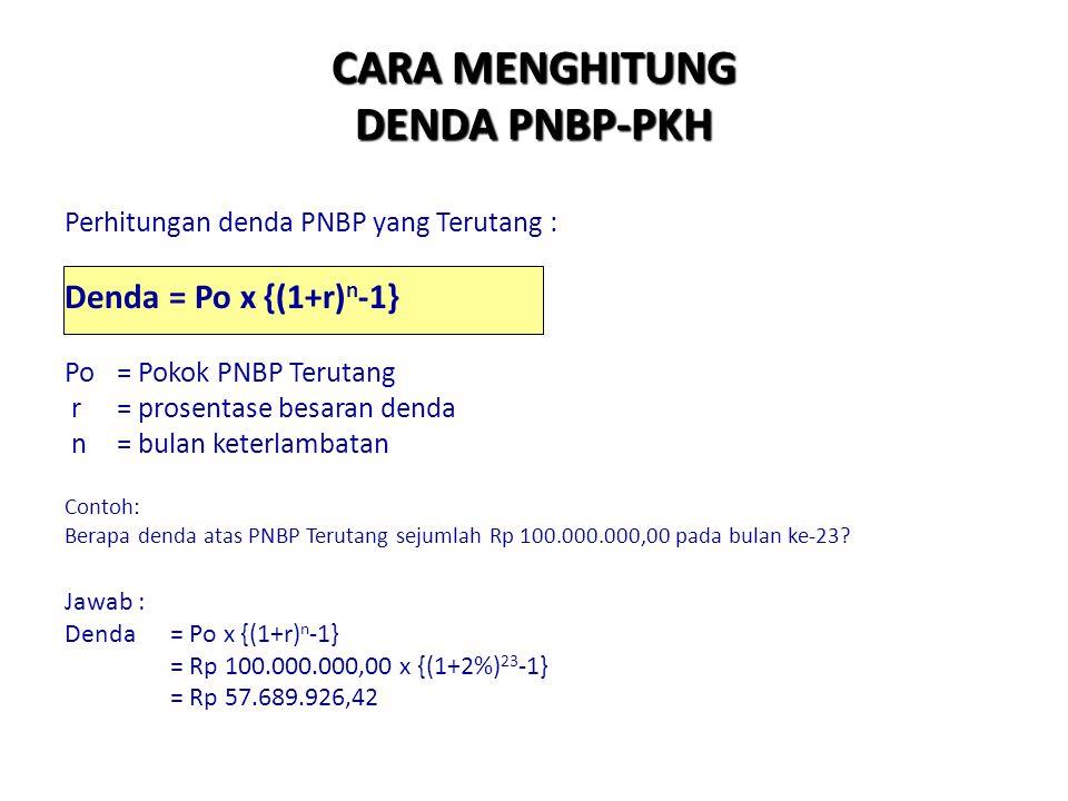 menghitung PNBP