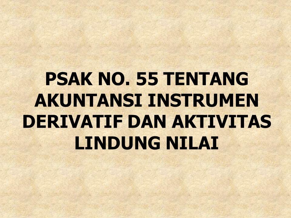 PSAK NO. 55 TENTANG AKUNTANSI INSTRUMEN DERIVATIF DAN AKTIVITAS LINDUNG NILAI