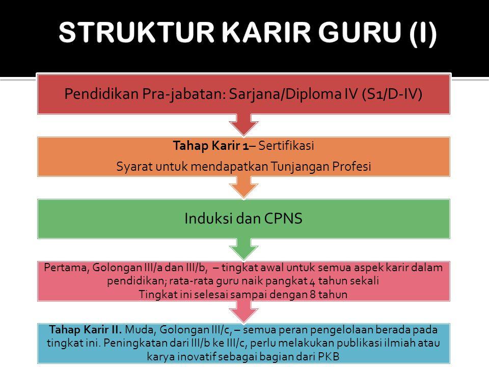 Tahap Karir II. Muda, Golongan III/c, – semua peran pengelolaan berada pada tingkat ini. Peningkatan dari III/b ke III/c, perlu melakukan publikasi il