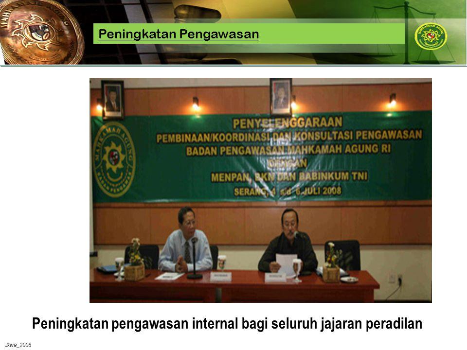 Jkwa_2008 Peningkatan pengawasan internal bagi seluruh jajaran peradilan Peningkatan Pengawasan