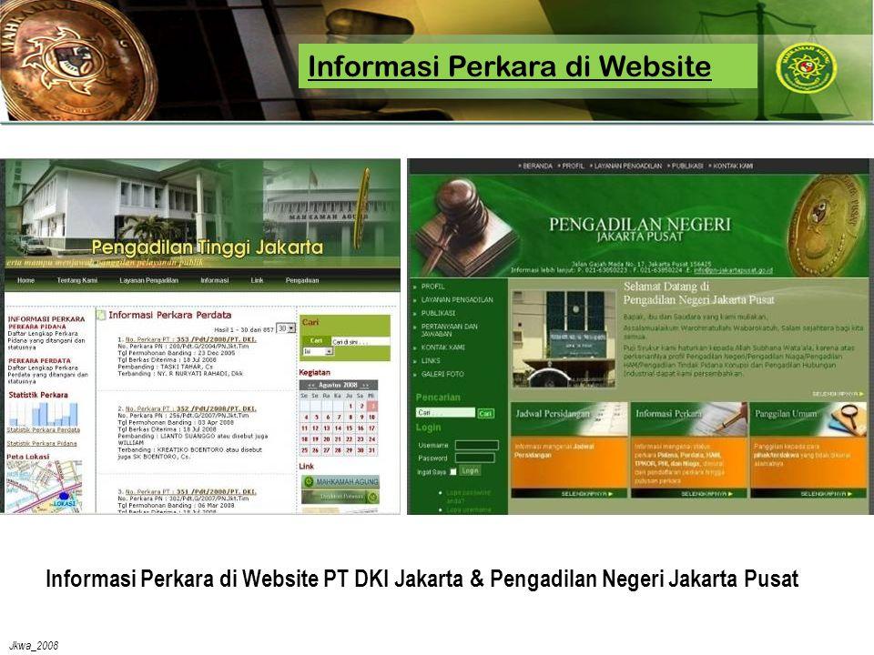 Jkwa_2008 Informasi Perkara di Website PT DKI Jakarta & Pengadilan Negeri Jakarta Pusat Informasi Perkara di Website