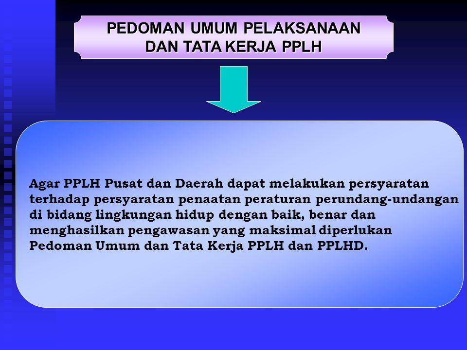 PPLH dan PPLH Daerah yang telah dilantik wajib melaksanakan tugas pengawasan lingkungan hidup sesuai dengan kewenangan dan lingkup wilayah kerjanya; P