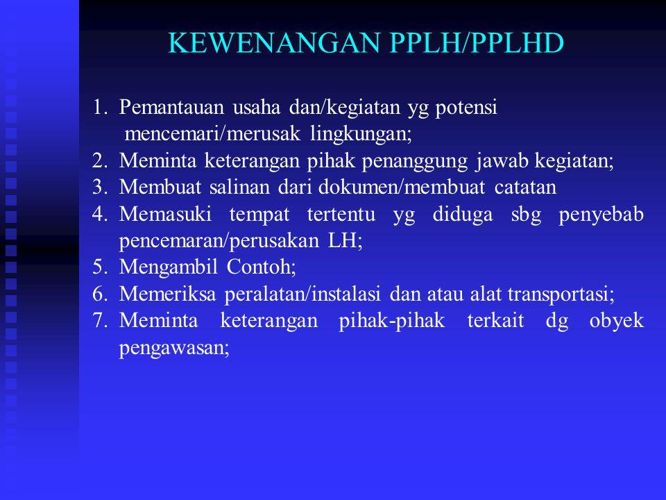 RUANG LINGKUP PENGAWASAN I. ASPEK PERATURAN PER- UU-AN 1. UU No. 23 Th 1997; 2. PP No. 18 jo 85 Th 1999; 3. PP No. 19 Th 1999; 4. PP No. 41 Th 1999; 5