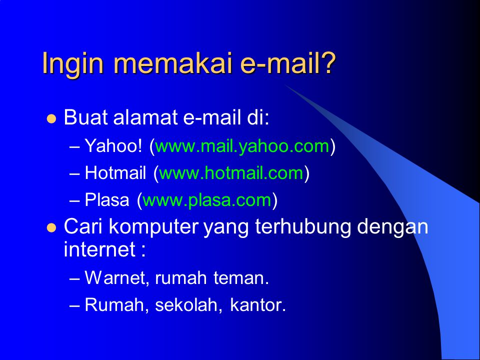 Cara membuka email Isi nama email dan password Klik Sign In