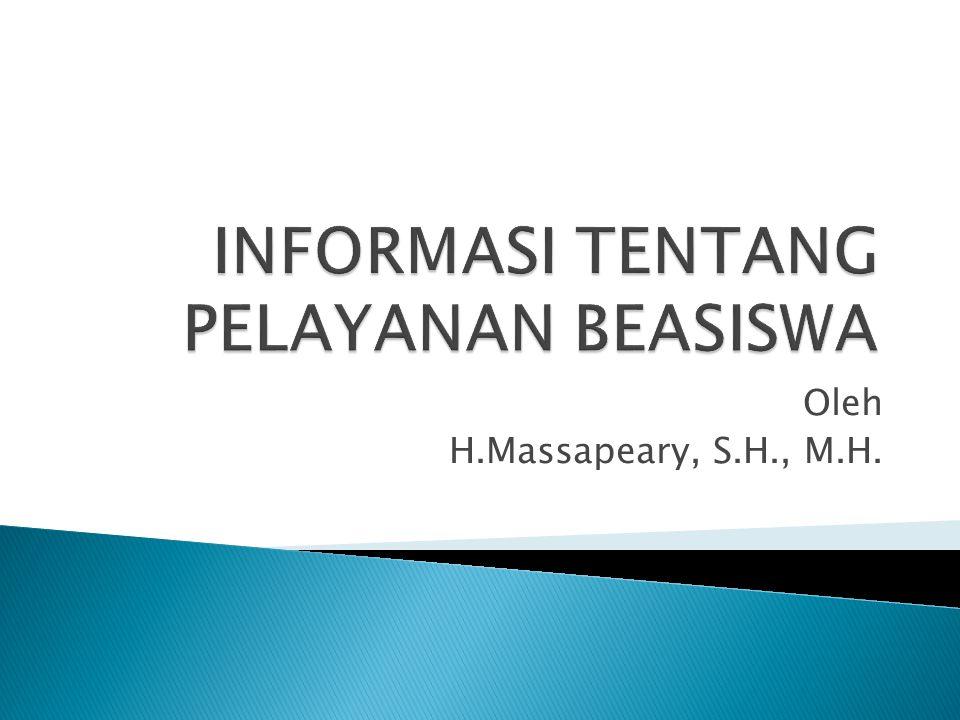 Oleh H.Massapeary, S.H., M.H.