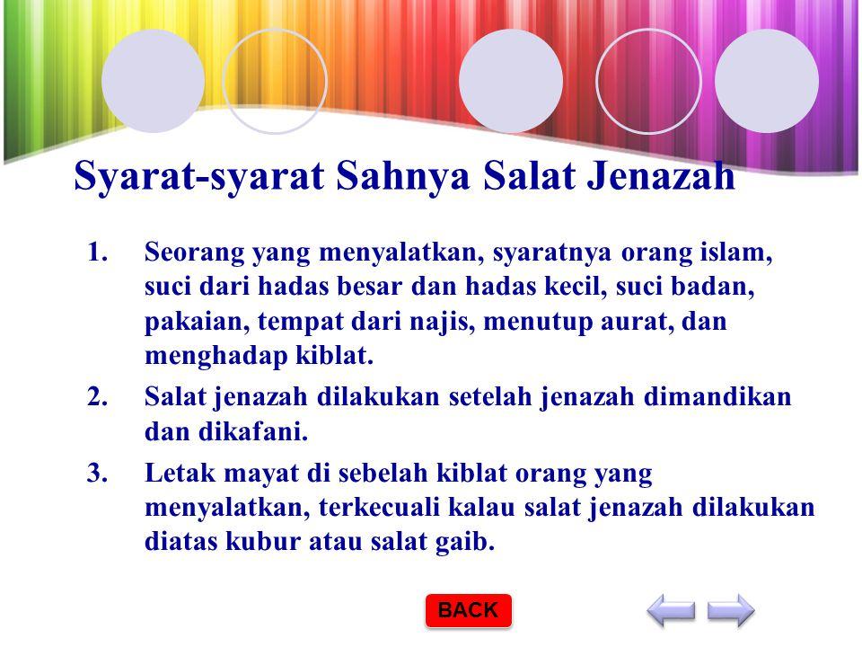 3. CARA MENSALATKAN JENAZAH 3.Menyalatkan Jenazah Salat jenazah dilaksanakan setelah jenazah selesai dimandikan dan dikafani. Hukumnya adalah fardu ki