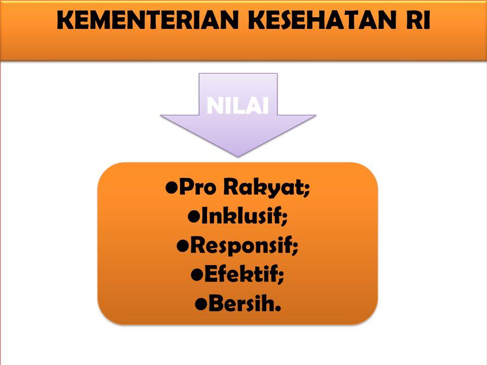 •Pro Rakyat; •Inklusif; •Responsif; •Efektif; •Bersih.