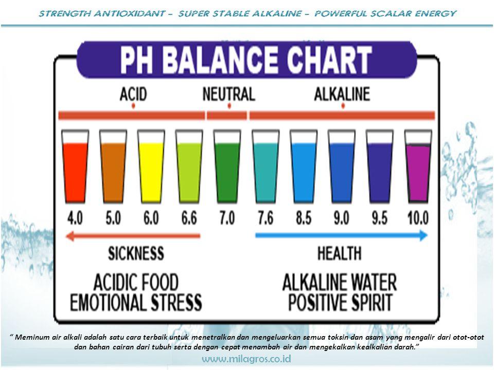 """ Meminum air alkali adalah satu cara terbaik untuk menetralkan dan mengeluarkan semua toksin dan asam yang mengalir dari otot-otot dan bahan cairan d"