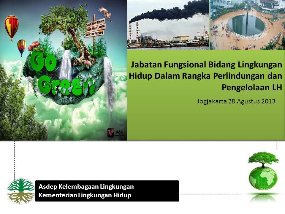 Jabatan Fungsional Bidang Lingkungan Hidup Dalam Rangka Perlindungan dan Pengelolaan LH Jogjakarta 28 Agustus 2013 Asdep Kelembagaan Lingkungan Kement