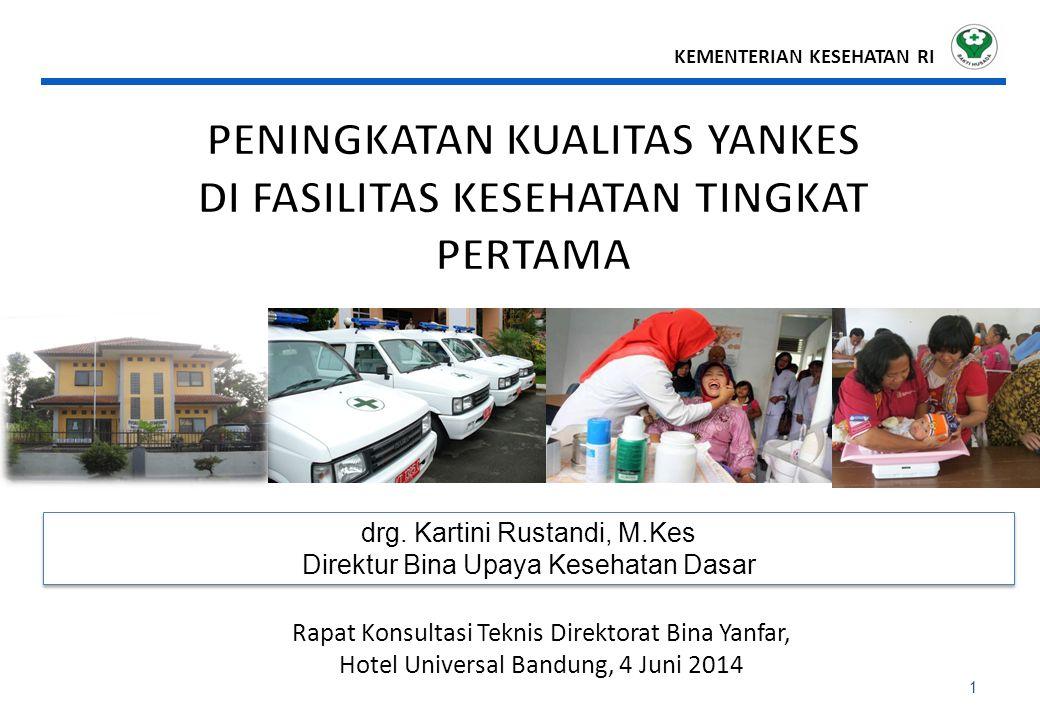 1 drg.Kartini Rustandi, M.Kes Direktur Bina Upaya Kesehatan Dasar drg.