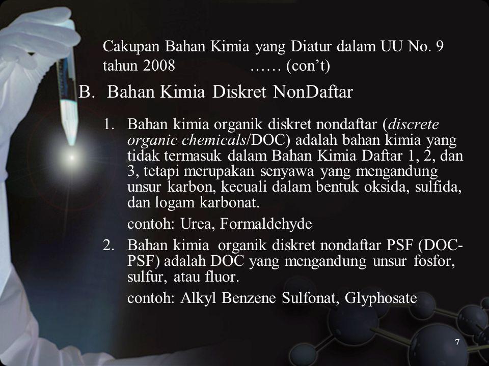 7 Cakupan Bahan Kimia yang Diatur dalam UU No.