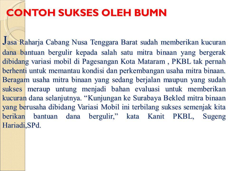 J asa Raharja Cabang Nusa Tenggara Barat sudah memberikan kucuran dana bantuan bergulir kepada salah satu mitra binaan yang bergerak dibidang variasi