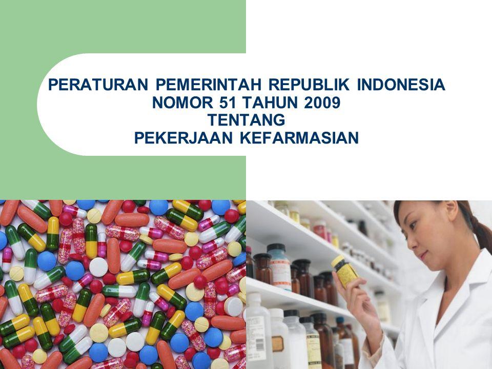  Pasal 17 Pekerjaan Kefarmasian yang berkaitan dengan prosesdistribusi atau penyaluran Sediaan Farmasi pada Fasilitas Distribusi atau Penyaluran Sediaan Farmasi wajib dicatat oleh Tenaga Kefarmasian sesuai dengan tugas dan fungsinya.