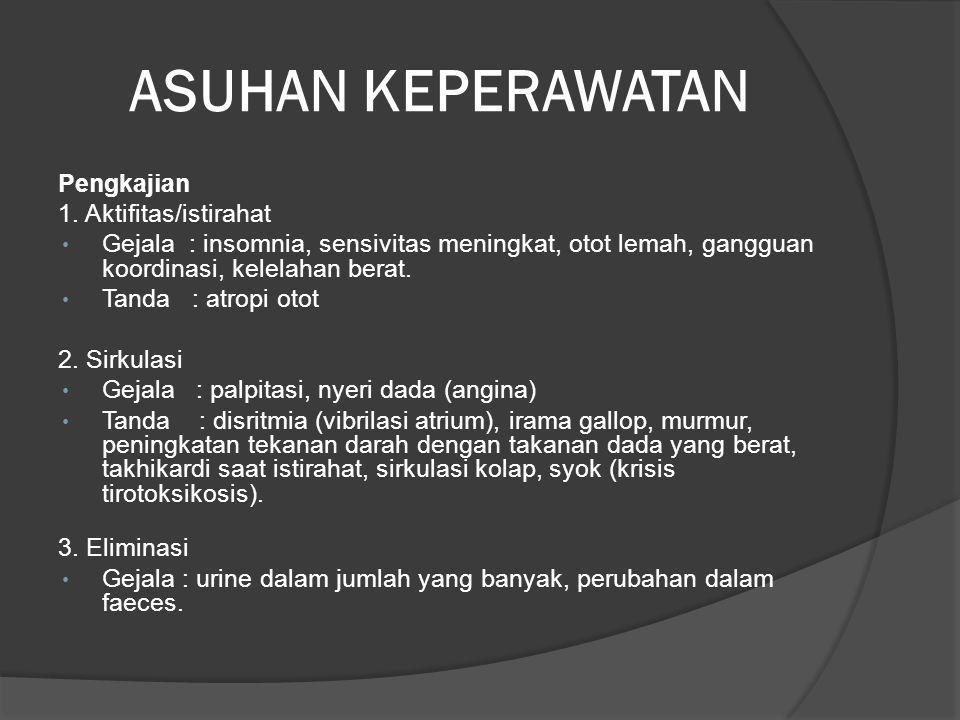 ASUHAN KEPERAWATAN Pengkajian 1.