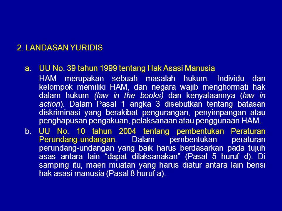 2.LANDASAN YURIDIS a.UU No.