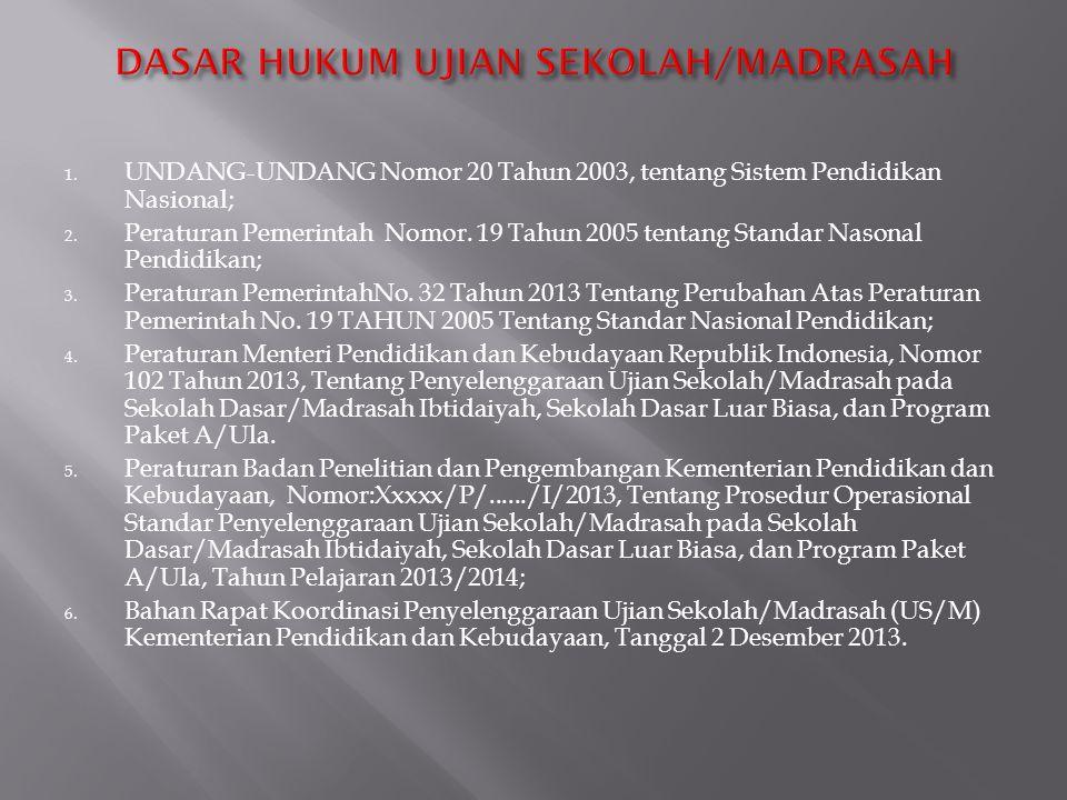  US/M terdiri atas US/M Utama dan US/M Susulan.