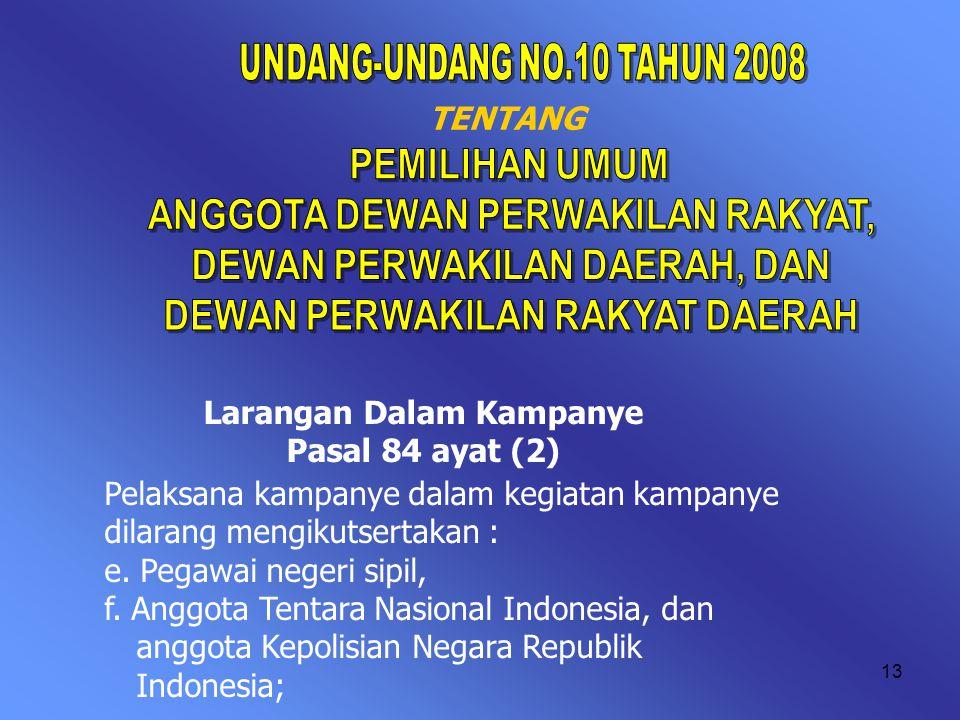 12 PANCA PRASETYA KORPRI Kami Anggota KORPS Pegawai Republik Indonesia, adalah Insan Yang Beriman dan Bertaqwa Kepada Tuhan Yang Maha Esa, Berjanji :