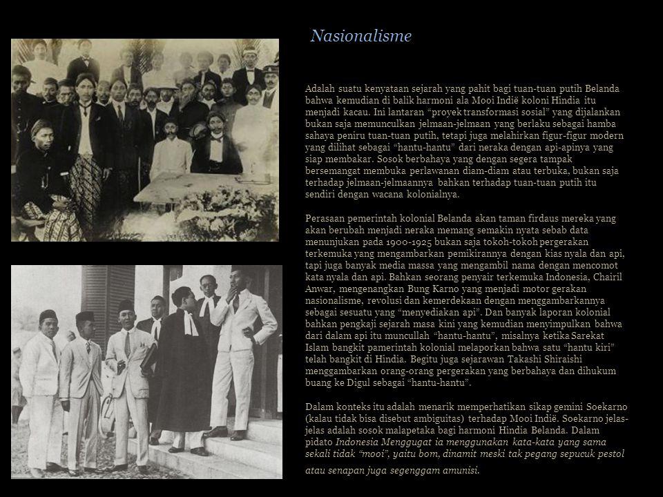 Adalah suatu kenyataan sejarah yang pahit bagi tuan-tuan putih Belanda bahwa kemudian di balik harmoni ala Mooi Indië koloni Hindia itu menjadi kacau.