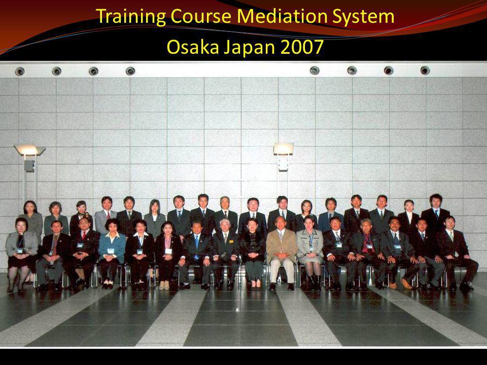 Training Course Mediation System Osaka Japan 2007