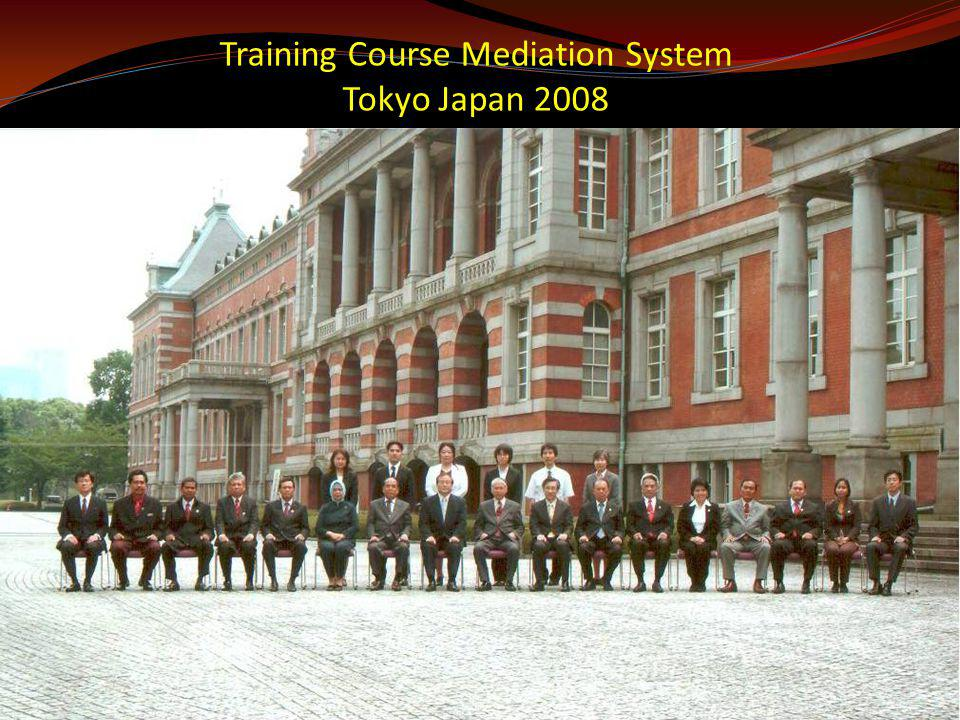Training Course Mediation System Tokyo Japan 2008
