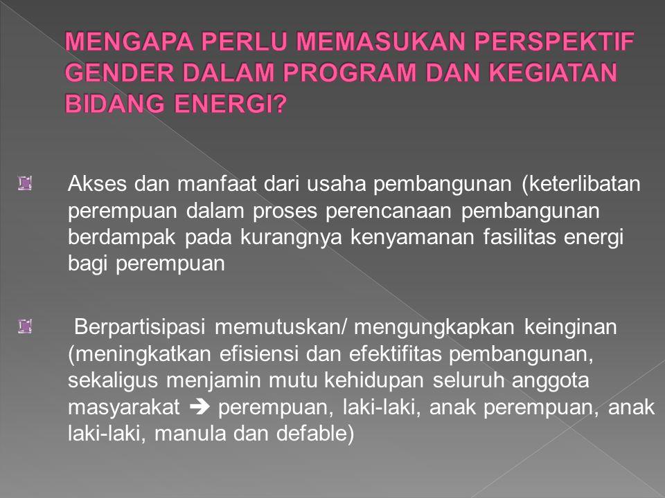 UU RI Nomor 30 Tahun 2007 tentang Energi pada : PASAL 2 menyebutkan bahwa Energi dikelola berdasarkan asas kemanfaafan, rasionalitas, efisiensi, berkeadilan, peningkatan nilai tambah, keberlanjutan, kesejahteraan masyarakat, pelestarian fungsi lingkungan hidup, ketahanan nasional, dan keterpaduan dengan pengutamakan kemampuan nasional PASAL 19 (1) Setiap orang berhak memperoleh energi.