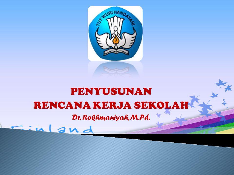 PENYUSUNAN RENCANA KERJA SEKOLAH Dr. Rokhmaniyah,M.Pd.