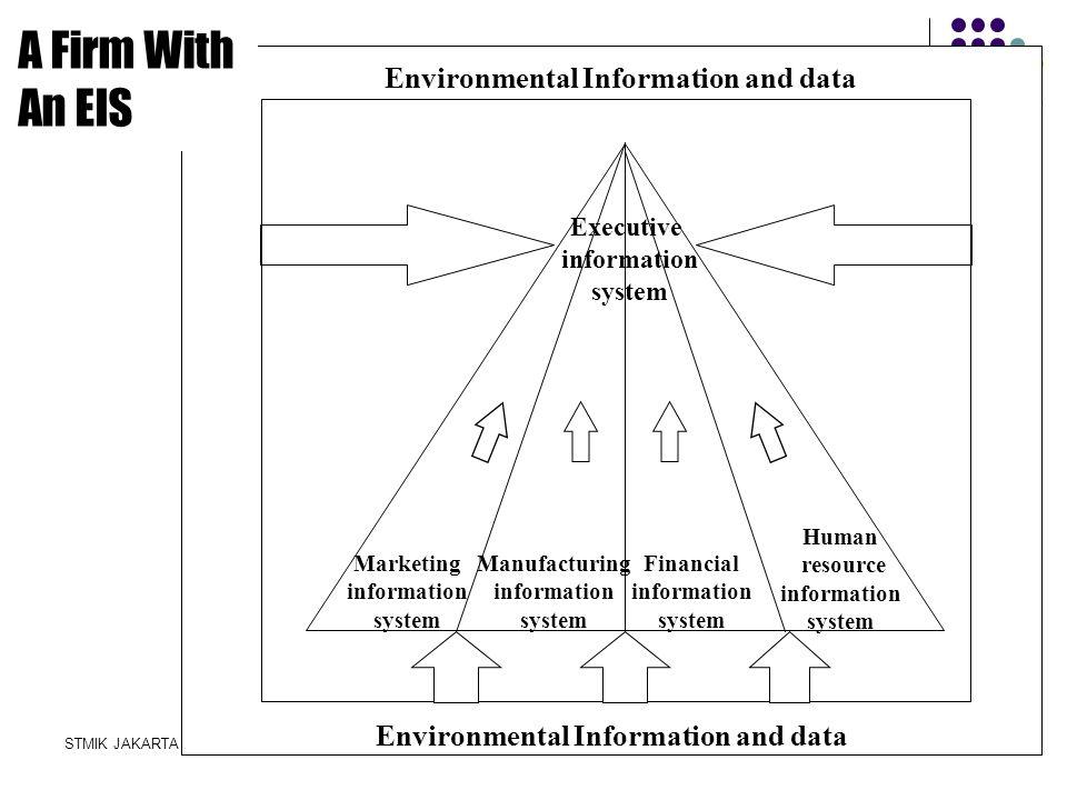 STMIK JAKARTA STI&KSISTEM INFORMASI MANAJEMEN - D3 Marketing information system Manufacturing information system Financial information system Human re