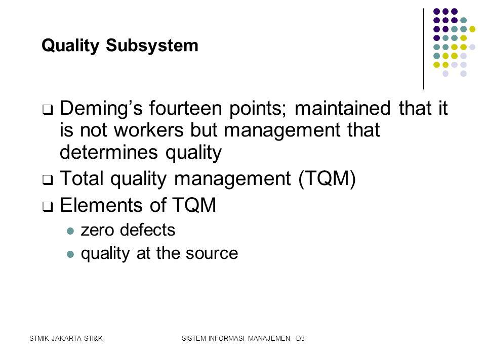 STMIK JAKARTA STI&KSISTEM INFORMASI MANAJEMEN - D3 Inventory Subsystem  Importance of determining the inventory level  Maintenance cost (carrying co