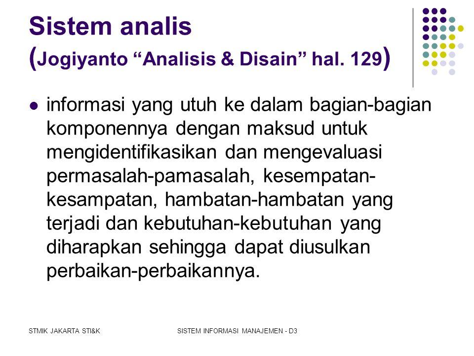STMIK JAKARTA STI&KSISTEM INFORMASI MANAJEMEN - D3 Program komputer  Adalah rangkaian instruksi dalam bahasa yang dipahami oleh komputer, disusun sed
