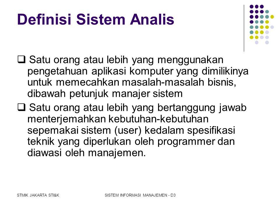 """STMIK JAKARTA STI&KSISTEM INFORMASI MANAJEMEN - D3 Sistem analis ( Jogiyanto """"Analisis & Disain"""" hal. 129 )  informasi yang utuh ke dalam bagian-bagi"""